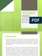 Diapositivas PROPORCIONES EN VOLUMEN SUELTO