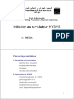 Cours d'Initiation de HYSYS Simulateur