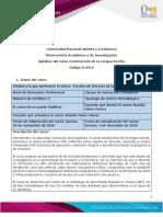 Syllabus del curso Construcción de la lengua escrita
