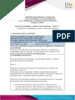 Guía de actividades y rúbrica de evaluación - Tarea 2 – Orientaciones pedagógicas desde la educación inclusiva
