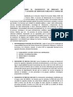 Un Analisis Sobre El Diagnostico de Brechas de Infraestructura y Accesos de Servicios Publicos a Cargo de La Pcm