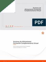 Acciones de Alisamiento Formacion Complementaria Virtual