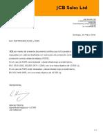 Certificado ROPS JCB JS360
