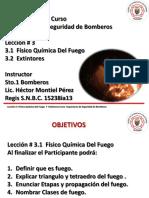 leccion #3 FISICO QUIMICA DEL FUEGO Y EXTINTORES