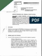 Contestación de Demanda Exp. 11-2019-PI-TC