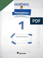 Saber Es Hacer Matematicas 1 Cartilla santillana edi 2021