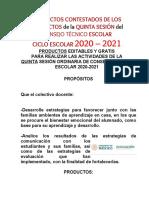 PRODUCTOS CONTESTADOS CTE FEBRERO 2021