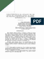 Características da atuação de um grupo de interesse junto ao sistema [...]
