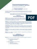 REGLAMENTO DE ESTUDIOS DE POSTGRADO DE LA UPEL