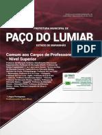 Prefeitura de Paco Do Lumiar Ma Comum Aos Cargos de Professor Ensino Superior