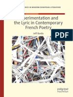 (Palgrave Studies in Modern European Literature) Jeff Barda - Experimentation and the Lyric in Contemporary French Poetry -Springer International Publishing_Palgrave Macmillan (2019)