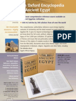 Flyer The Oxford Encyclopedia of Ancient Egypt