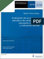 Evaluación Programa Motivación Escolar