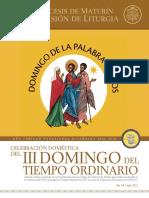 Subsidio - III Domingo del Tiempo Ordinario - Ciclo B