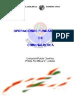 Operaciones fundamentales de Criminalistica