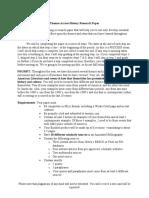 Junior Research Paper-American Literature Themes