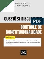 Controle de Constitucionalidade - Questões Discursivas