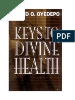 Les clés pour la santé divine°David O. OYEDEPO°62