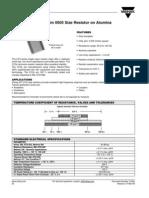 Resistor manufactores Data sheet