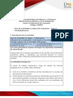 Guía de actividades y rúbrica de evaluación - Unidad 2 - Fase 2 - Contextualización