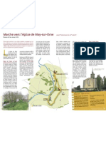 Marche vers l'église de May-sur-Orne