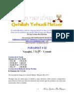 Parashat Vayeqhel # 22 Adul 6011