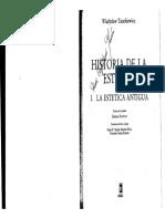 Historia de la Estética Vol I Estética Antigua de Tatarkiewikcz