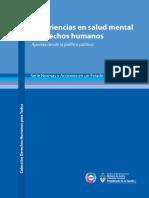 CALMELS Et Al - Experiencias en Salud Mental y Derechos Humanos. Aportes Desde La Política Pública
