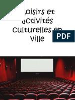 Diapositives-Images-Loisirs-et-activités-culturelles-en-ville-Cm1-Exercices