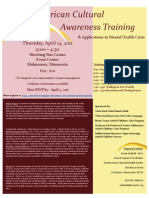 Native American Cultural Awarenss Crisis Team Training Flyer
