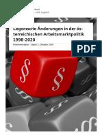 Legistische Änderungen in der österr. Arbeitsmarktpolitik 1998-2020