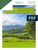 Bioökonomiestrategie - eine Strategie für Österreich