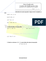 3.1 - Equações de 2 Grau Completas - Ficha de Trabalho (1)