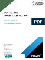 Programme Formation.actaLIANS.revit Architecture.module 1.Initiation.3j