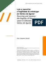 Dassie, Vitor C. Luto e Memória