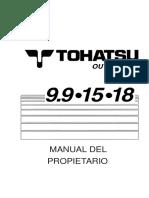 Tohatsu Manual de Usuario 9 15 18