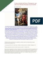 Análisis de Pasajes Controversiales del Nuevo Testamento para los trinitarios