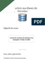 Introduction aux BD