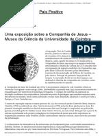Uma Exposição Sobre a Companhia de Jesus – Museu Da Ciência Da Universidade de Coimbra – País Positivo