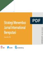 Kiat Menulis Artikel Pada Jurnal International Bereputasi