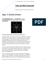 Algol, A Estrela Sinistra – Ocultismo e Caminho da Mão Esquerda