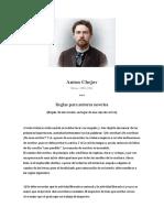 Anton Chejov. Reglas para autores noveles + El Escritor