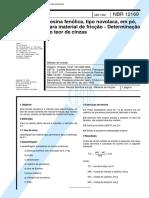 NBR 12169 Mb 3510 - Resina Fenolica Tipo Novolaca Em Po Para Material De Friccao - Determina