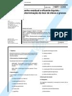 NBR 13348 - Banho Residual E Efluente Liquido - Determinacao Do Teor De Oleos E Graxas