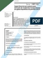 NBR 07460 - Chapas Finas De Aco-Carbono Para Fabricacao De R