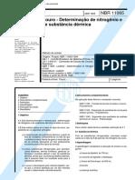 NBR 11065 - Couro - Determinacao de Nitrogenio E de Substancia Dermica