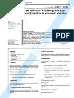 NBR 13702 - Prata Refinada - Analise Quimica Por Espectrometria De Absorcao Atômica