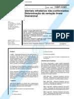 NBR 08385 - 1999 - Materiais Refratarios Nao-Conformado - Determinacao Da Variacao Linear
