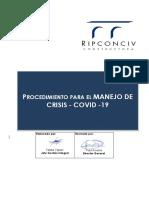 PROCEDIMIENTO PARA EL MANEJO DE CRISIS - COVID -19_Versión 2_Rev