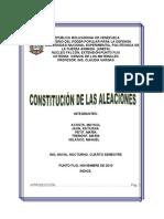 CONSTITUCION DE LAS ALEACIONES